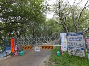 工事中の宮川堤