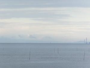 大湊海岸から望む富士山