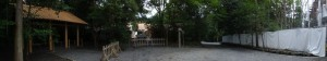造替された祓所、新御敷地、参道、造替中の宿衛屋(月讀宮)