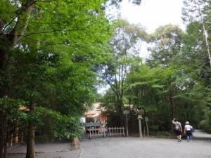 造替された祓所、新御敷地付近(月讀宮)