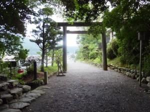 葭原神社にお参り後、駐車場へ(月讀宮)