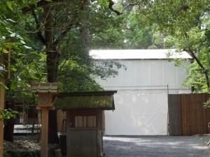 御造営が進められている土宮の新御敷地(外宮)