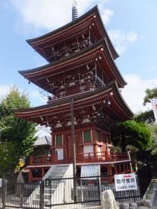 子安観音寺の三重塔