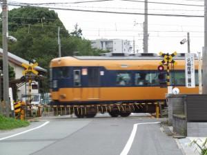 近鉄名古屋線 踏切道 高田本山 第7号、伊勢-3(3932)