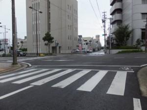 交差点(三重県庁舎付近)