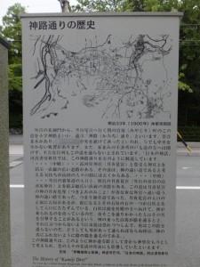 神路通りの説明板(月夜見宮付近)