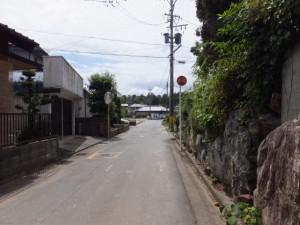 県道37号 湯田3交差点から湯田神社へ