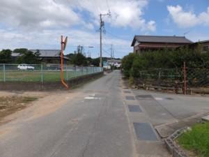 県道37号 湯田3交差点から美和ロック方向へ、最初の十字路