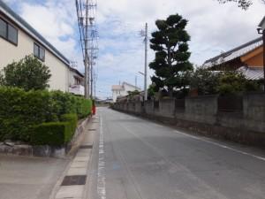 県道37号 湯田3交差点からの最初のT字路から美和ロック方向へ