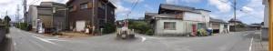 湯田 六地蔵石幢付近