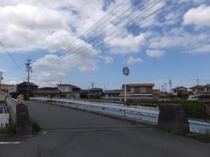五十鈴橋(外城田川)を渡ってから振り返ってパチリ
