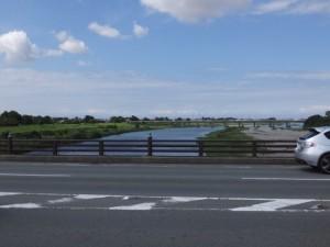 度会橋から望む宮川の下流方向