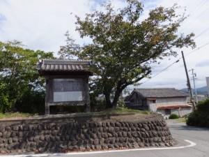 桜の渡し(宮川)の説明板付近
