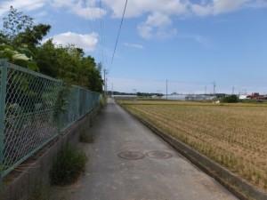 宮川の堤防道路から近鉄山田線方向へ、途中で左折・・