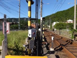 近鉄 踏切道 中之郷 第九号から望む志摩赤崎駅方向