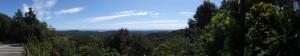 青峯山正福寺の山門の先にある駐車場からの風景
