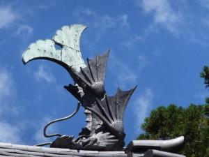 青峯山正福寺 山門(大門)の鯱