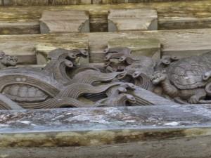 青峯山正福寺 山門(大門)の彫刻