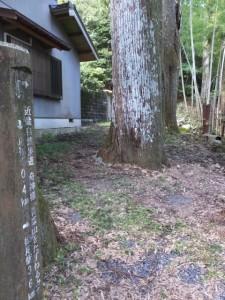 青峰山正福寺から青峰道(松尾道)へ