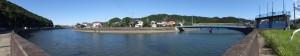 近鉄 踏切道 志摩赤崎 第十号付近から望む加茂川