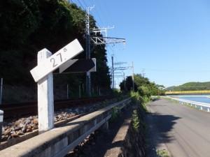 近鉄志摩線(白滝大明神(白滝さん)ご参拝者駐車場付近)