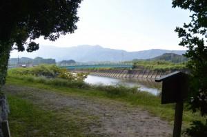 朝熊神社付近から望む朝熊橋(朝熊川)