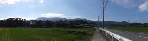 伊勢二見鳥羽ライン 朝熊IC付近から遠望する朝熊ヶ岳