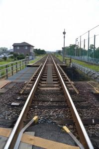JR参宮線 大町踏切から望む伊勢市駅方向