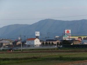 自宅付近から望む朝熊ヶ岳(朝熊山)