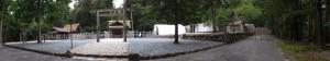 瀧原竝宮、瀧原宮、造替中の御船倉、若宮神社、長由介神社(川島神社を同座)、新御敷地