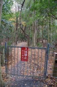 上御井神社の遥拝場所(2012年01月)