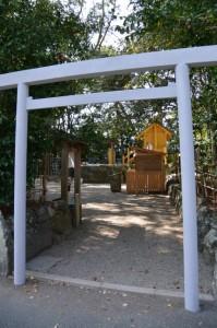 御造営中の橘神社(伊勢市黒瀬町)