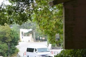 饗土橋姫神社付近から望む宇治橋方向