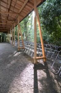 伊佐奈岐宮、伊佐奈彌宮 遷御の儀のために準備された奉拝席