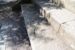 神門前の石階(熊野本宮大社)