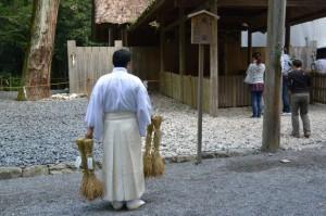 神嘗祭 奉幣の儀を終えた風宮