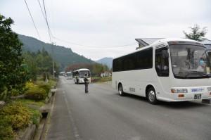 瀧原宮 お白石持行事1号車の出発地、三瀬川スクールバス待避所付近