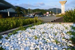 大台町役場の白い石