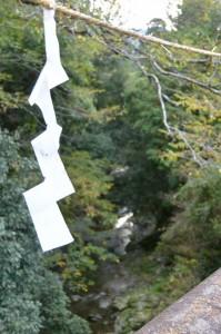 頓登川に架かる橋(瀧原宮付近)から望む瀧原宮の御手洗場方向