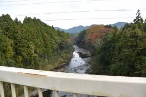 滝原大橋から望む大内山川の下流側