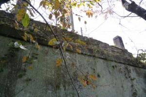滝原大橋(大内山川)東詰付近、下方から見上げる古い橋の一部