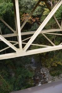 国道42号「浜松まで158km」ボスト付近(大紀町滝原)の橋から望む頓登川
