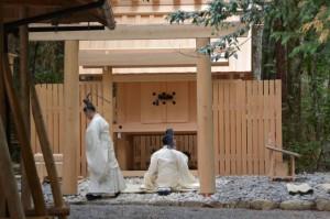 遷宮諸祭儀、洗浄(長由介神社(川島神社を同座))