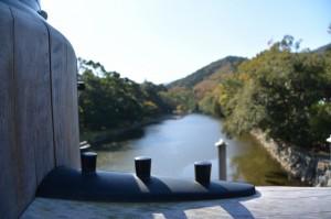 宇治橋から望む五十鈴川(内宮)