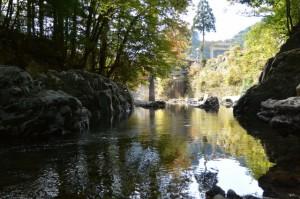 頭之宮四方神社の御手洗場(唐子川)