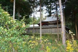 積田神社の本殿(名張市夏見)