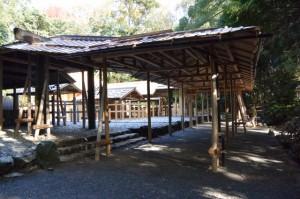 遷御の儀に向けて設営された雨儀廊(倭姫宮)