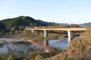 宮リバー度会パークから内城田大橋(宮川)へ向かう途中