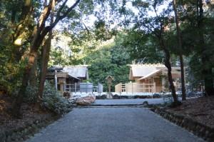 雨儀廊が撤去された倭姫宮