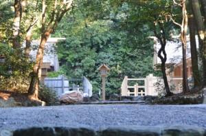 石階から望む倭姫宮